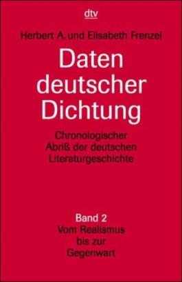 Daten deutscher Dichtung. Tl.2