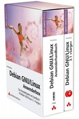 Debian GNU/Linux-Anwenderbox, Anwenderhandbuch u. 2 DVD-ROM