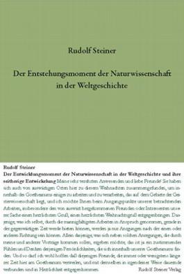 Der Entstehungsmoment der Naturwissenschaft in der Weltgeschichte...