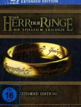 Der Herr der Ringe, Die Spielfilm Trilogie, Extended Edition, 15 Disc-Set (6 Blu-rays + 9 DVDs)