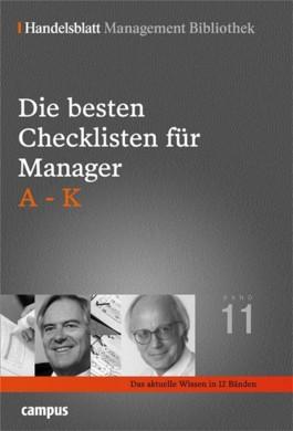 Die besten Checklisten für Manager, A-K