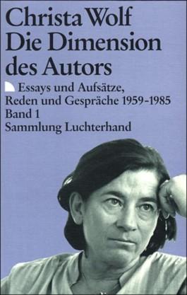 Die Dimension des Autors, 2 Bde.