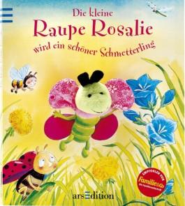 Die kleine Raupe Rosalie wird zum schönen Schmetterling, m. Fingerpuppe