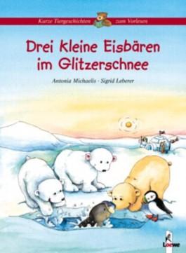 Drei kleine Eisbären im Glitzerschnee