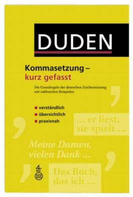 Duden - Kommasetzung - kurz gefasst