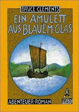 Ein Amulett aus blauem Glas