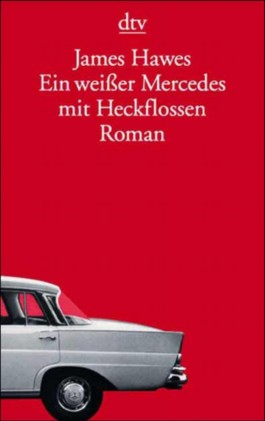 Ein weißer Mercedes mit Heckflossen