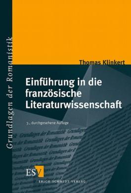Einführung in die französische Literaturwissenschaft