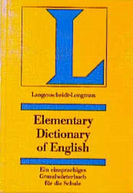 Elementary Dictionary of English. A Langenscheidt-Longman Dictionary