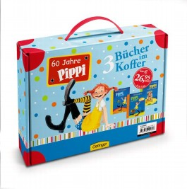 Farbige Pippi-Ausgaben im Spielkoffer