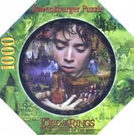 Frodo und die Macht des Ringes. Puzzle. Herr der Ringe. Rundpuzzle.