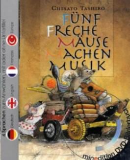 Fünf freche Mäuse machen Musik (Buch mit DVD)