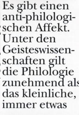 Für – Die Philologie