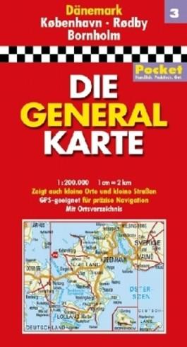Generalkarte Dänemark Pocket Blatt 3 Kobenhavn /Rodby/ Bornholm
