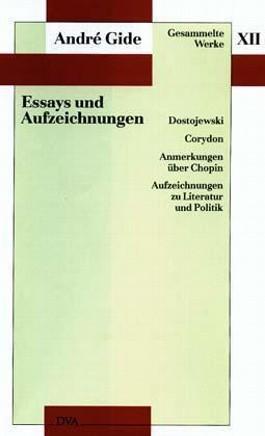 Gesammelte Werke XII. Essays und Aufzeichnungen