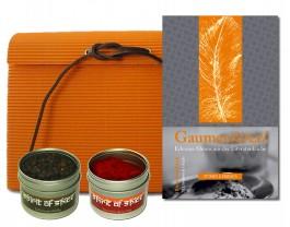 Geschenkset Gepfeffert & Gewürzt zum Buch Gaumenkitzel - Erlesene Menüs aus der Literatenküche