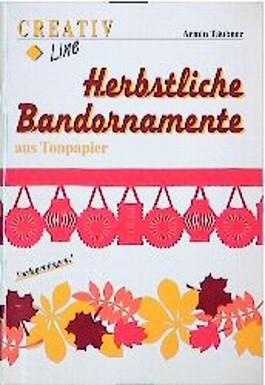 Herbstliche Bandornamente aus Tonpapier. Vorlagenbogen.