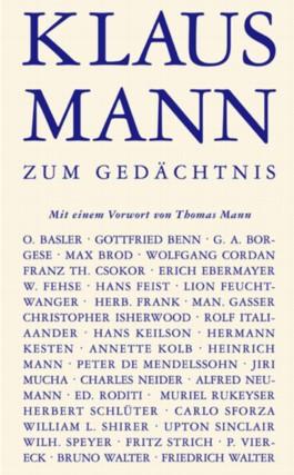 Klaus Mann zum Gedächtnis