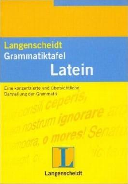 Langenscheidt Grammatiktafel Latein - Falttafel