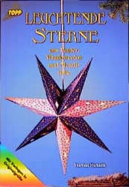 Leuchtende Sterne aus Papier, Windowcolor und Metallfolie