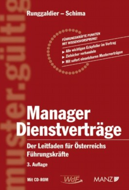 Manager Dienstverträge