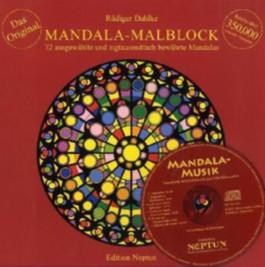 Mandala-Malblock mit Musik-CD