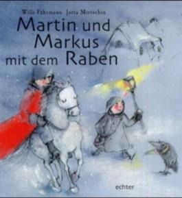 Martin und Markus mit dem Raben