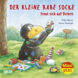 Maxi-Pixi 64: Der kleine Rabe Socke freut sich auf Ostern