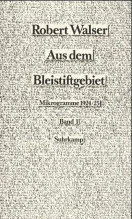 Mikrogramme aus den Jahren 1924/25, 2 Bde.