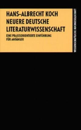 Neuere deutsche Literaturwissenschaft