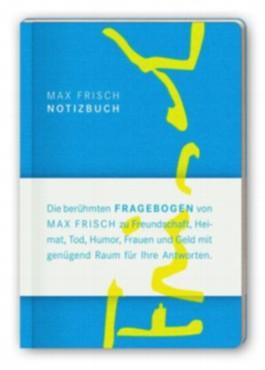 Notizbuch mit den Fragebogen von Max Frisch