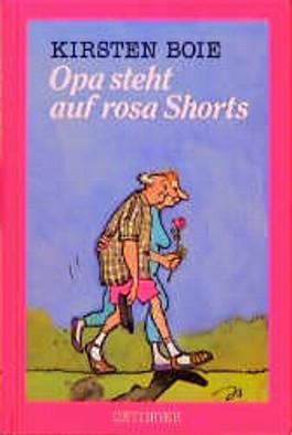 Opa steht auf rosa Shorts