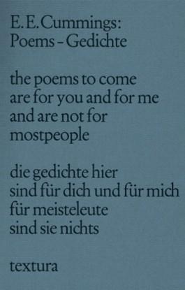 Poems Gedichte Von Edward E Cummings Bei Lovelybooks