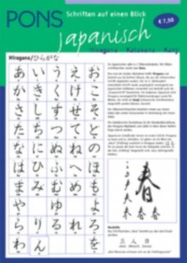 PONS Schriften auf einen Blick, Japanisch
