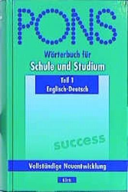 PONS Wörterbuch für Schule und Studium, Englisch-Deutsch, Teil I