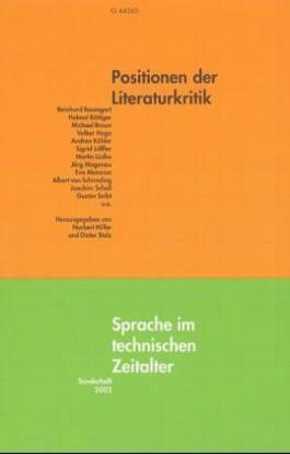 Positionen der Literaturkritik