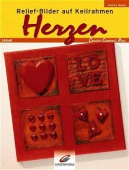 Relief-Bilder auf Keilrahmen, Herzen