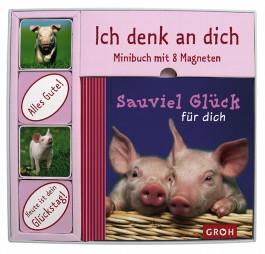 Sauviel Glück für dich, Minibuch m. 8 Magneten