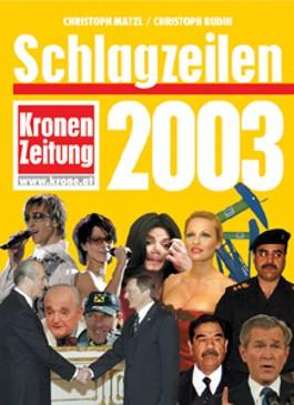 Schlagzeilen 2003