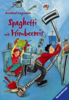 Spaghetti mit Himbeereis
