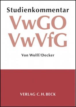 Studienkommentar Verwaltungsgerichtsordnung (VwGO) / Verwaltungsverfahrensgesetz (VwVfG)