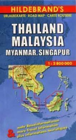 Thailand, Malaysia, Myanmar, Singapur. Thailand, Malaysia, Myanmar, Singapore