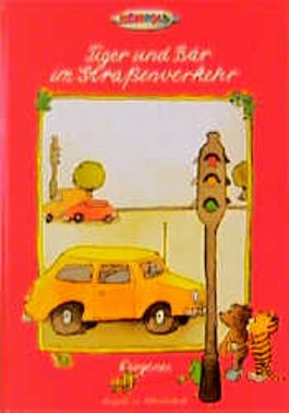 Tiger und Bär im Straßenverkehr, Schreibschrift