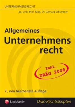 Unternehmensrecht - Allgemeines Unternehmensrecht