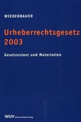 Urheberrechtsgesetz 2003