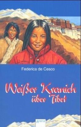Weißer Kranich über Tibet