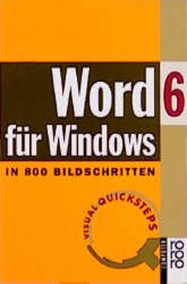Word 6 für Windows in 800 Bildschritten