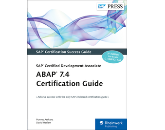 Cover von ABAP 7.4 Certification Guide—SAP Certified Development Associate