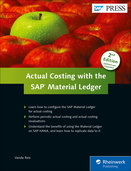 Cover von Actual Costing with the Material Ledger in SAP ERP