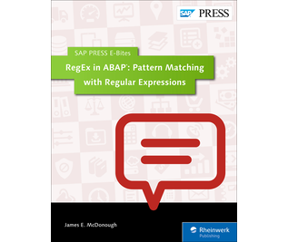 Cover von RegEx in ABAP: Pattern Matching with Regular Expressions